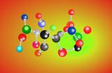 molecular structure background poster