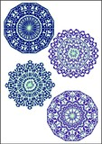 ornate circular designs poster