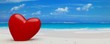 1 heart on beach