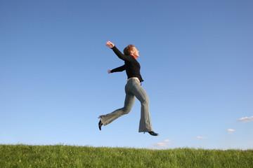 run jump girl