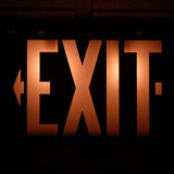 exit sign in an american motel poster