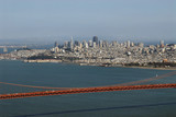 san francisco and golden gate from marin headlands poster