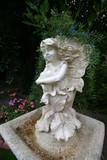 fairy birdbath poster