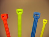 plastic cable ties multi color poster