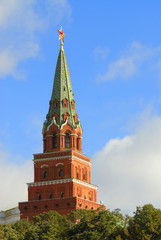 moscow. russia, kremlin in the blue sky