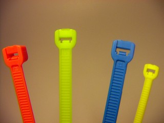 plastic cable ties multi color