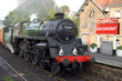 steam train at grosmont station
