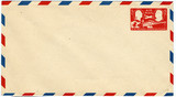 five cent airmail envelope poster