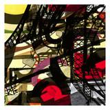 eifel tower: art composition poster