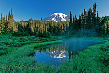 mt. rainier and tarn