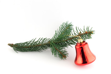 isolated christmas decoration on white background