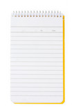 opened notepad poster
