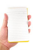 hand holding notepad poster