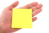 blank notepaper stick on hand poster
