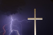 lightning and the cross