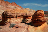 rust colored rock formations poster