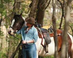 horse girl forst