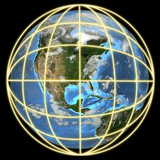 earth in a global grid-focus on americas poster