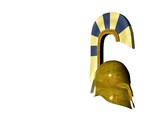 greek helmet 5a poster