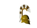 greek helmet 5 poster