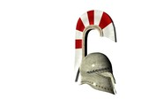 greek helmet 6 poster