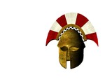 ancient greek helmet 12 poster