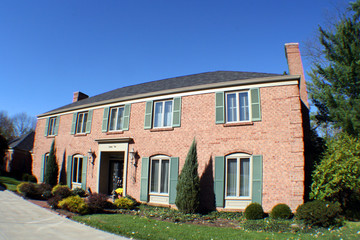 large two story brick house