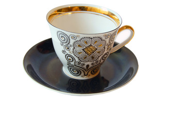 cup on saucer isolated