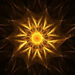 golden spiritual mandala