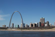 saint louis arch with skyline