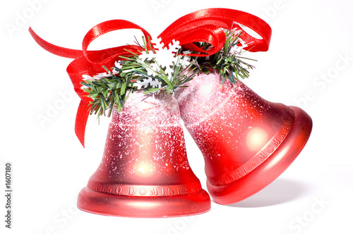 christmas bells on white background - 1607180