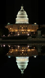 reflection of the capitol in washington dc poster