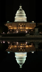 reflection of the capitol in washington dc