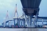 bridge in bangkok, thailand poster