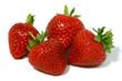 four strawberries