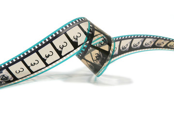 curled movie film strip