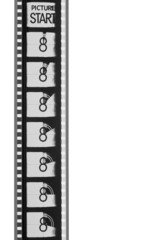movie leader film strip (black and white)