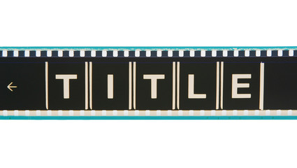 movie title film strip
