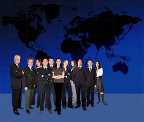 business team worlwide