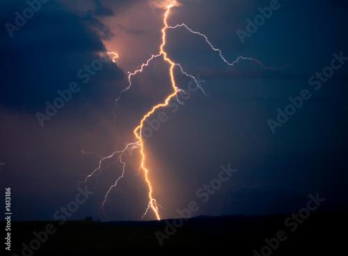 Foto op Canvas Onweer montana storm