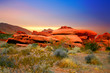 Leinwanddruck Bild - red rock canyon, nevada