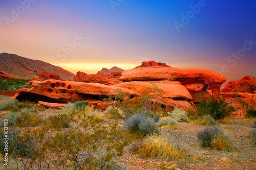 Leinwanddruck Bild red rock canyon, nevada