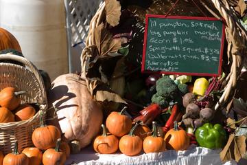 fall cornucopia at the outdoor market