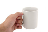 hand holding coffee mug poster