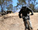 mountain biker poster
