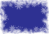 winter background with a fir tree poster