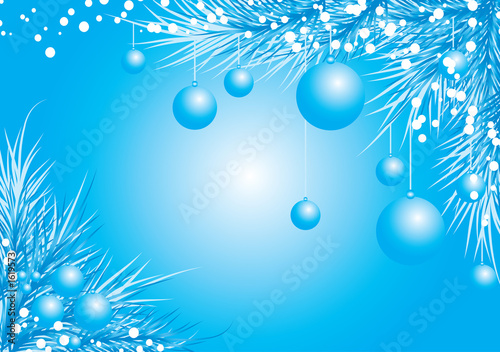 christmas background with a fur-tree