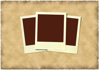 polaroid frame at vintage  background