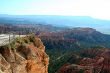 tourist overlook view of bryce canyon poster
