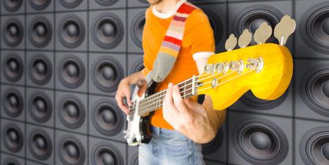 urban bass guitar player